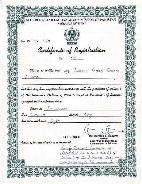 f17297f7330 CERTIFICATE OF REGISTRATION